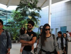 Shahid Kapoor And Mira Rajput Kapoor Spotted Airport Photos