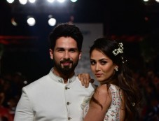 Shahid Kapoor And Mira Rajput Walk The Ramp For Anita Dongre At Lakme Fashion Week 2018 Photos