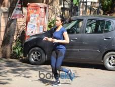Shraddha Kapoor Spotted Jogging In Bandra Photos