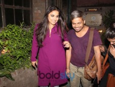 Vidya Balan Spotted At Pali Village Cafe Bandra Photos