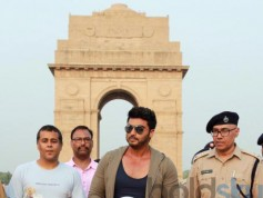 Arjun Kapoor And Chetan Bhagat At A Road Safety Awareness Campaign