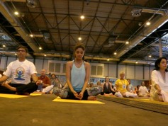 Shilpa Shetty At The IIFA Stomp Yoga Masterclass 2016