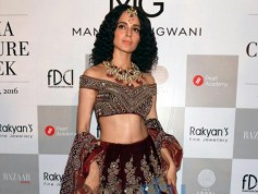 Kangana Ranaut Walking The Ramp For Designer Manav Gangwani At ICW 2016