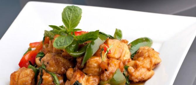Spicy Thai Chicken With Basil Recipe