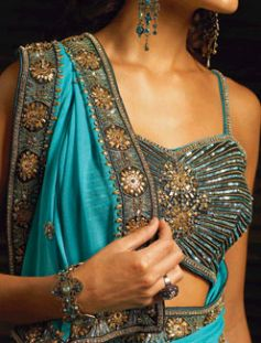 Sunny blue saree
