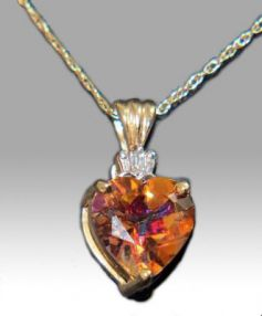 Fire Topaz and Diamond Chain