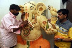 Making of Legumes Ganesh idol