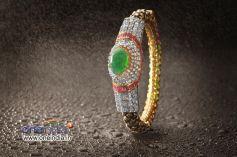 Emerald based Bangle