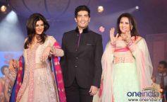 Sushmita Sen, Manish Malhotra, Poonam Dhillon