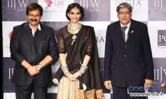 Rajiv Jain, Sonam Kapoor and Sanjay Kothari