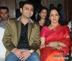 Sunny Sakaria with Hema Malini