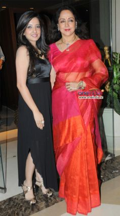 Amy Billimoria with Hema Malini