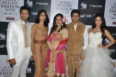 Veteran actress Zeenat Aman with,actors Bhoop and Madhurima and Designer duo Riya