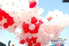 Gallery » Health » Health Aids Awareness Logo On Balloons