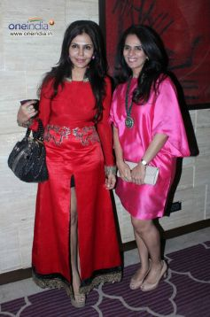 Nisha Jamwal and Anita Dongre at Harper's Bazzar Bash 2012