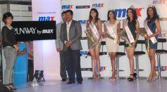 (L-R) Kamakshi Kaul, C.S. Shekhar, Vasanth Kumar and Femina Miss India winners
