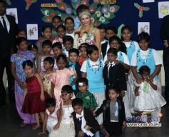 Paris Hilton Visited Ashray  Orphanage at Bandra