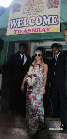Paris Hilton Visited Ashray Orphanage at Bandra