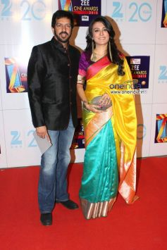 Kabir Khan and Mini Mathur at Zee Cine Awards 2013