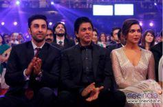 Ranbir Kapoor, Shahrukh Khan and Deepika Padukone