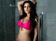 Sunny Leone in Neon Pink Lingerie