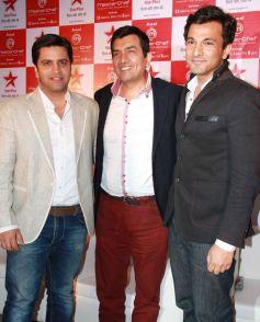 Kunal Kapoor, Sanjeev Kapoor and Vikas Khanna
