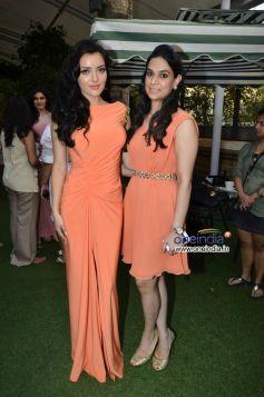 Designer Ritika Bharwani with her muse Kristina Akeeva