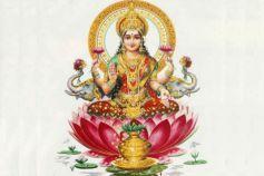 Worship Lakshmi Hindu Goddess For Wealth
