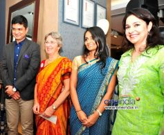 Mrinmoy Mukherjee, Annabel Mehta, Dhun Davar & Anjali Tendulkar at the Raymond Shop