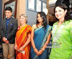 Mrinmoy Mukherjee, Annabel Mehta, Dhun Davar & Anjali Tendulkar at the Raymond Shop