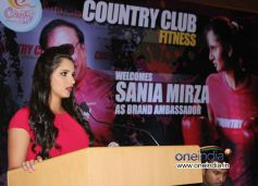 Sania Mirza Brand Ambassdor For Country Club Fitness and Vacations