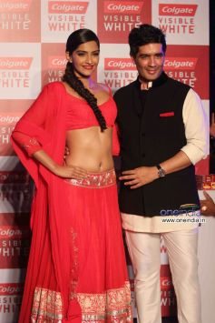 Sonam Kapoor Launch Colgate Visible White toothpaste