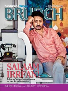 Irrfan Khan on the cover of HT Brunch April 2013