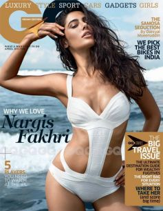 Nargis Fakhri on the cover of GQ India April 2013
