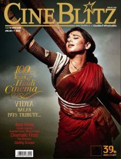 Vidya Balan as Mother India on the cover of Cineblitz April 2013