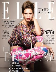 Kalki Koechlin on the cover of Elle Magazine Apr 2013