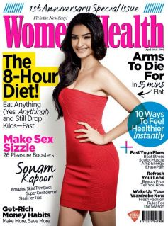 Sonam Kapoor On The Cover of Women Health Apr 2013