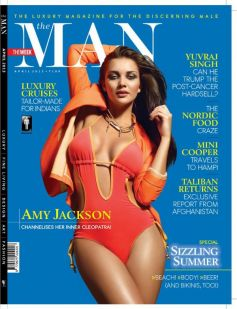 Amy Jackson on the Cover of Man Magazine Apr 2013