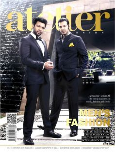 Amaan and Ayaan on The Cover of Atelier cover