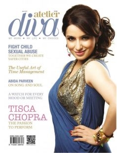 Tisca Chopra on the cover of Atelier Diva (April 2013)