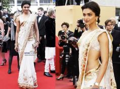 Deepika Paukone In White Saree