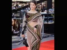 Aishwarya Rai In Net Saree
