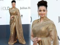 Aishwarya Rai Shines In Gold At Cannes