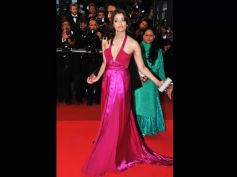 Ash In Pink Gown With Plunging Neckline