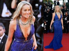 Sharon Stone in Cobalt Blue