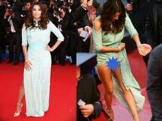 Eva Longoria's Cannes Wardrobe Malfunction