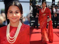 Vidya in red