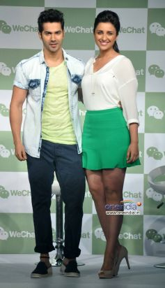 Varun Dhawan and Parineeti Chopra at Launch of Tencent's WeChat Messenger