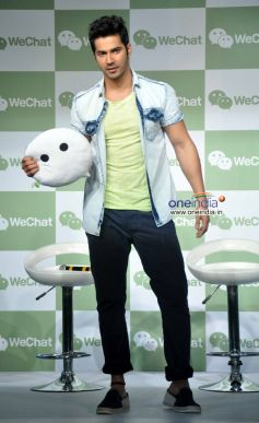 Varun Dhawan at Launch of Tencent's WeChat Messenger