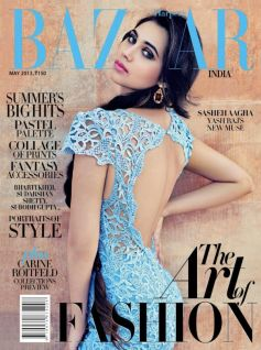 Sasheh Aagha (Aurangzeb) on the cover of Harper's Bazaar